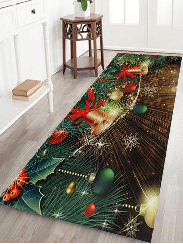Store Christmas Bells Baubles Pattern Anti-skid Water Absorption Area Rug