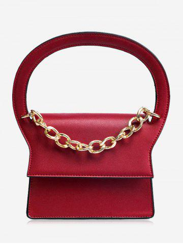 Online Chain PU Leather Handbag With Strap