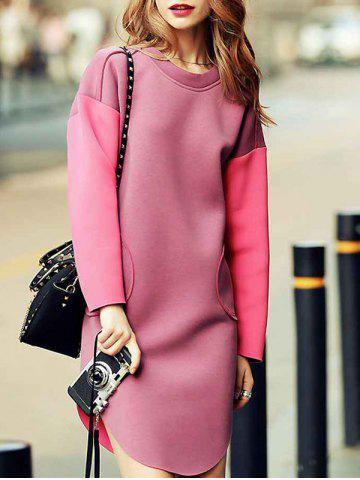 Chic Drop Shoulder Sweatshirt Dress - M PAPAYA Mobile