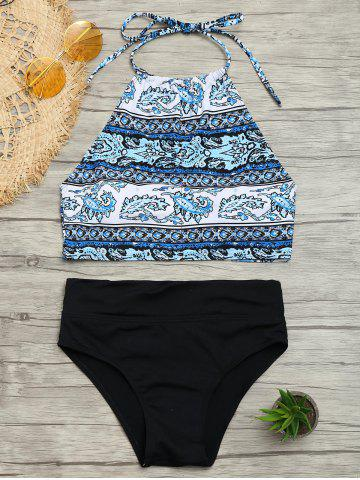 Fashion Halter Tribal Print Bikini Set COLORMIX L