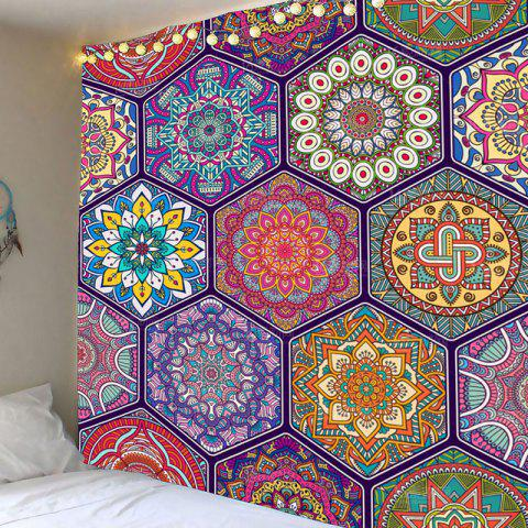 Store Bohemian Geometries Flowers Print Wall Decor Tapestry - W59 INCH * L51 INCH COLORFUL Mobile