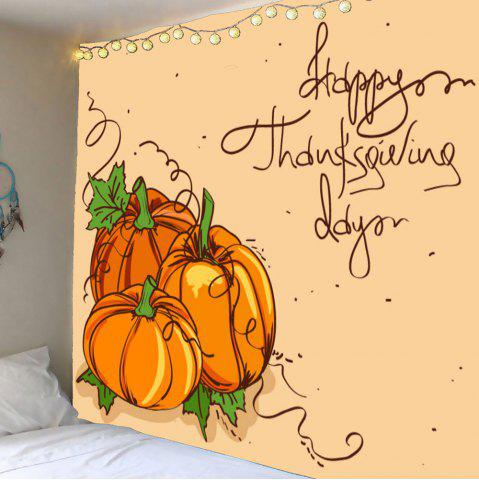 Outfits Thanks Giving Day Pumpkin Print Wall Art Tapestry - W59 INCH * L51 INCH GINGER Mobile