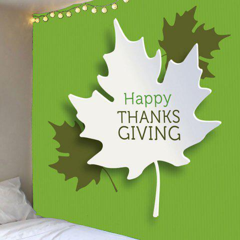 Fancy Thanks Giving Maple Leaves Print Wall Art Tapestry - W59 INCH * L51 INCH GREEN Mobile