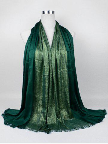 Outfits Vintage Spun Gold Tone Long Scarf - PEA GREEN  Mobile