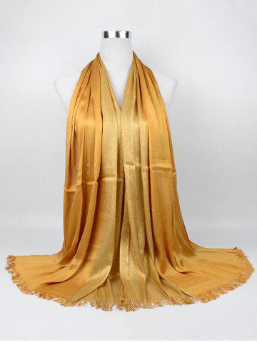 New Vintage Spun Gold Tone Long Scarf