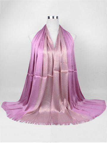 Outfits Vintage Spun Gold Tone Long Scarf - PINKISH PURPLE  Mobile