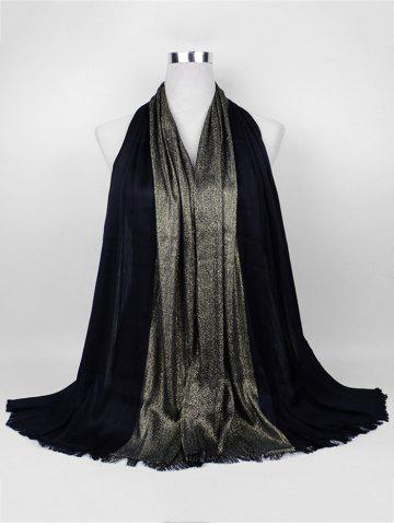 Trendy Vintage Spun Gold Tone Long Scarf