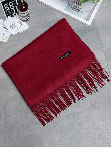 Cheap Soft Artificial Cashmere Fringed Long Scarf