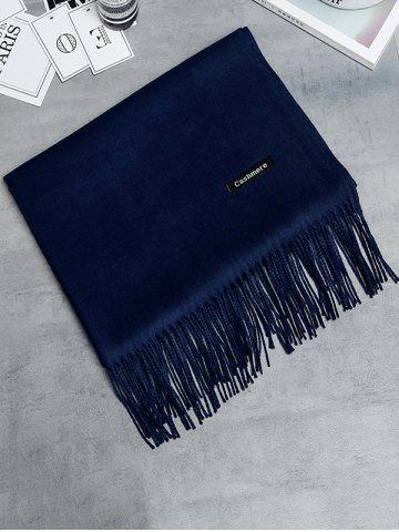 Outfit Soft Artificial Cashmere Fringed Long Scarf