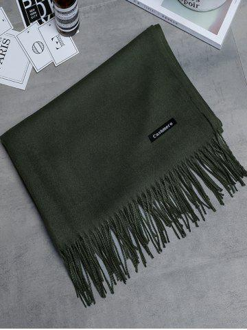 Chic Soft Artificial Cashmere Fringed Long Scarf
