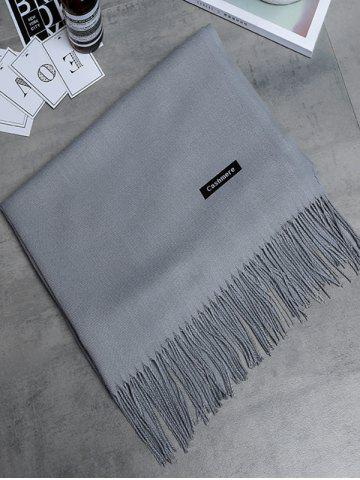 Trendy Soft Artificial Cashmere Fringed Long Scarf