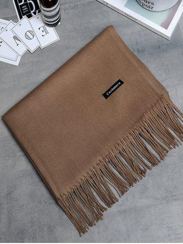 Affordable Soft Artificial Cashmere Fringed Long Scarf - DEEP BROWN  Mobile