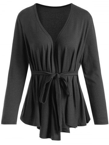Cheap Asymmetrical Wrap Plus Size T-shirt