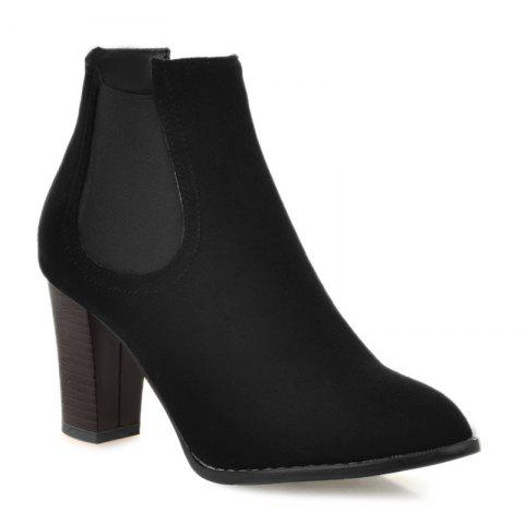 Hot Elasticized Side Panels Chunky Heel Boots