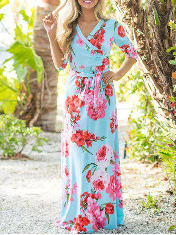 Buy Floor Length Flower Print Dress