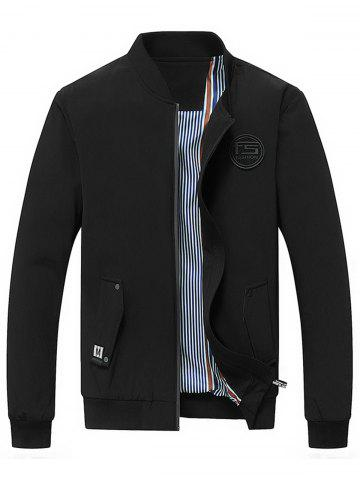 Rubber Patch Zip Up Jacket