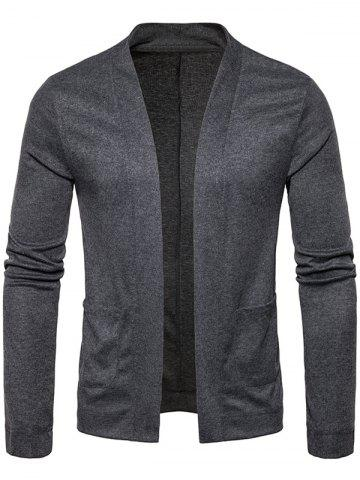 Best Knitted Open Front Drape Cardigan