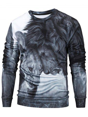Sweat-shirt imprimé lions 3D