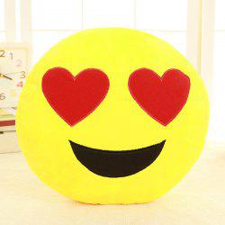Cartoon Smile Face Emoticon Pattern Pillow Case - RED