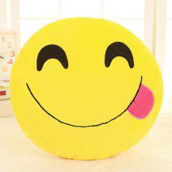 Cartoon Smile Face Emoticon Pattern Pillow Case -