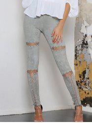 Faux Suede High Waist Lace Up Pants -