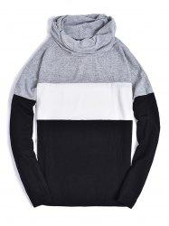 Piles Collar Color Block Panel Sweater -