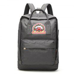 Car Letter Embroidery School Backpack -