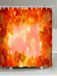 Maple Leaves Print Waterproof Bathroom Shower Curtain -