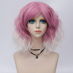 Medium Side Bang Ombre Natural Wavy Synthetic Party Cosplay Wig -