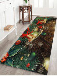 Christmas Bells Baubles Pattern Anti-skid Water Absorption Area Rug -