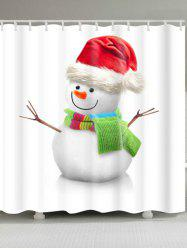 Polyester Waterproof Christmas Snowman Bath Curtain -