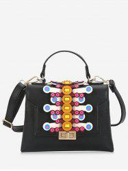 Geometric Contrasting Color Handbag -