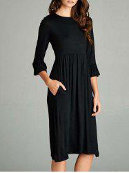 Bell Sleeve Knee Length T Shirt Dress -