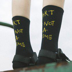 Art Is Not A Crime Tube Socks - BLACK