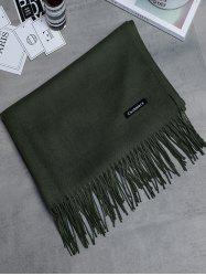 Soft Artificial Cashmere Fringed Long Scarf -