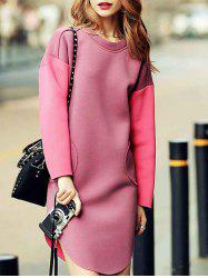 Drop Shoulder Sweatshirt Dress -