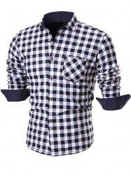 Warm Thicken Button Up Plaid Shirt -