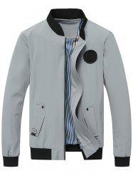 Rubber Patch Zip Up Jacket -