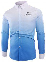 Ombre Graphic Print Long Sleeve Shirt -