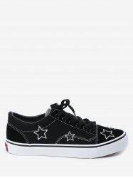 Stars Embroidery Canvas Skate Shoes -