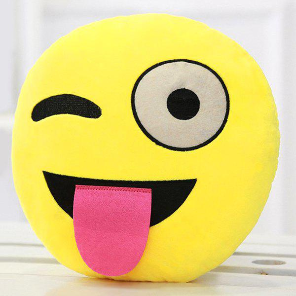 Cartoon Smile Face Emoticon Pattern Pillow CaseHOME<br><br>Color: TUTTI FRUTTI; Material: Other; Pattern: Other; Style: Modern/Contemporary; Size(CM): 33*33cm; Weight: 0.2550kg; Package Contents: 1 x Pillow Case;
