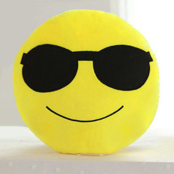 Cartoon Smile Face Emoticon Pattern Pillow CaseHOME<br><br>Color: BLACK; Material: Other; Pattern: Other; Style: Modern/Contemporary; Size(CM): 33*33cm; Weight: 0.2550kg; Package Contents: 1 x Pillow Case;