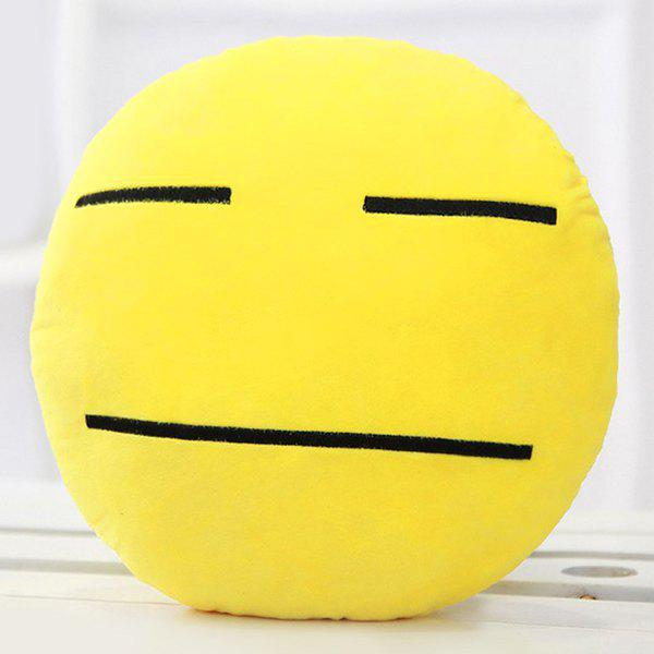 Cartoon Smile Face Emoticon Pattern Pillow CaseHOME<br><br>Color: DEEP YELLOW; Material: Other; Pattern: Other; Style: Modern/Contemporary; Size(CM): 33*33cm; Weight: 0.2550kg; Package Contents: 1 x Pillow Case;