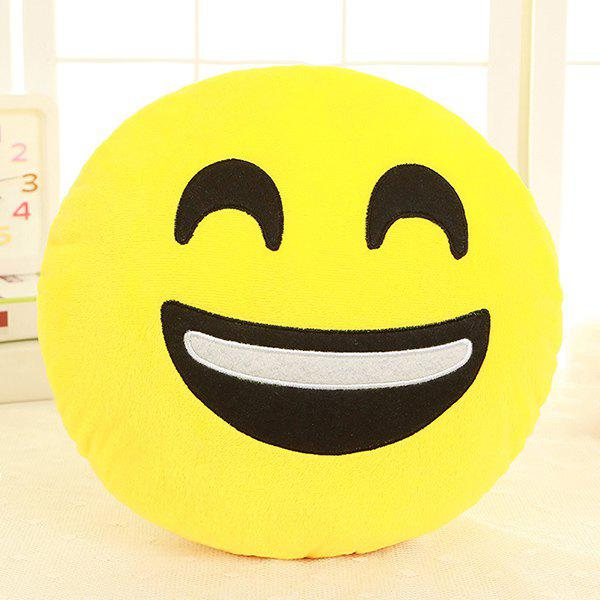 Cartoon Smile Face Emoticon Pattern Pillow CaseHOME<br><br>Color: WHITE AND BLACK; Material: Other; Pattern: Other; Style: Modern/Contemporary; Size(CM): 33*33cm; Weight: 0.2550kg; Package Contents: 1 x Pillow Case;