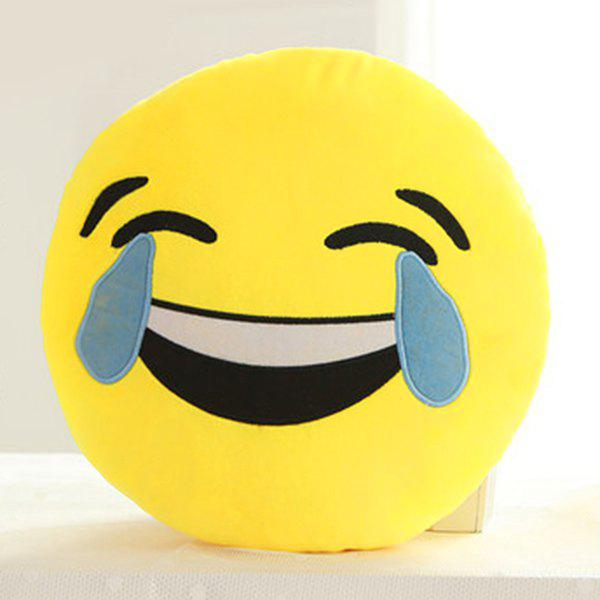 Cartoon Smile Face Emoticon Pattern Pillow CaseHOME<br><br>Color: BLUE AND YELLOW; Material: Other; Pattern: Other; Style: Modern/Contemporary; Size(CM): 33*33cm; Weight: 0.2550kg; Package Contents: 1 x Pillow Case;