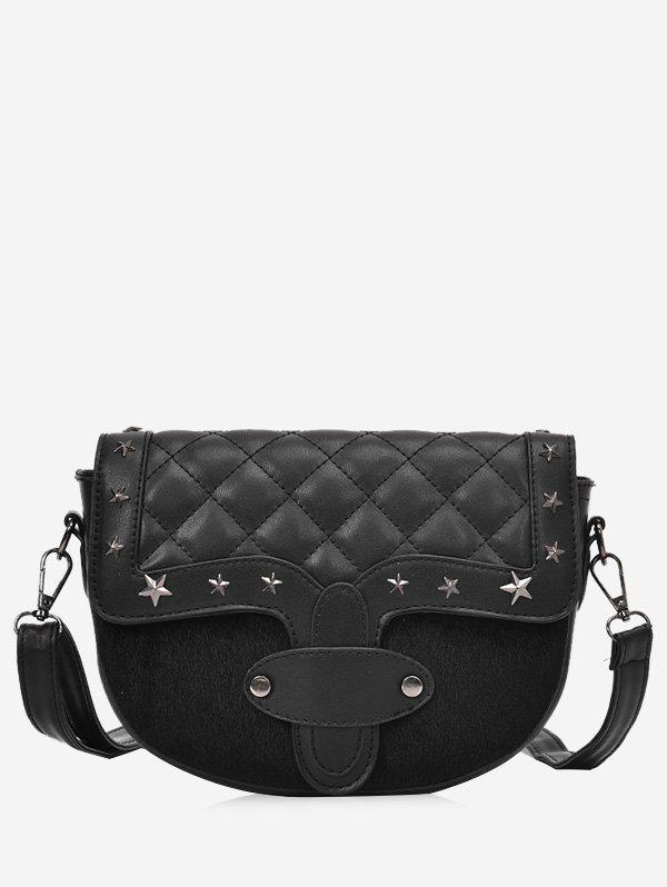 Cheap Rivets Quilted Metal Stars Crossbody Bag