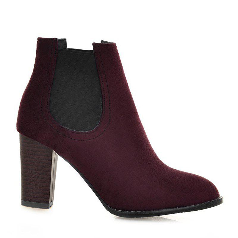 Store Elasticized Side Panels Chunky Heel Boots