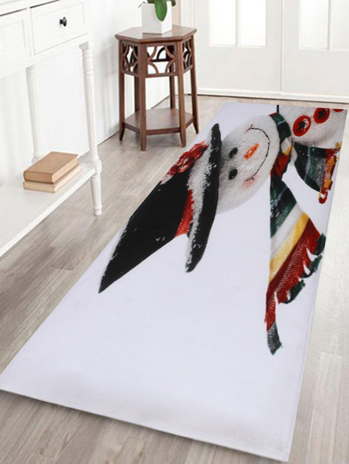 Shop Christmas Snowman Print Antislip Bath Rug