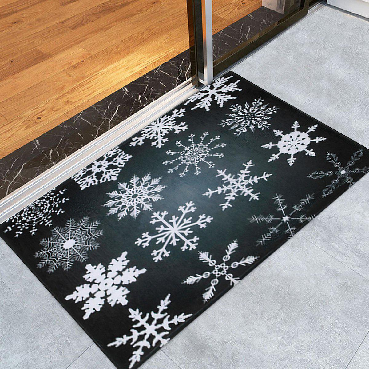 Chic Christmas Snowflake Nonslip Coral Fleece Area Rug