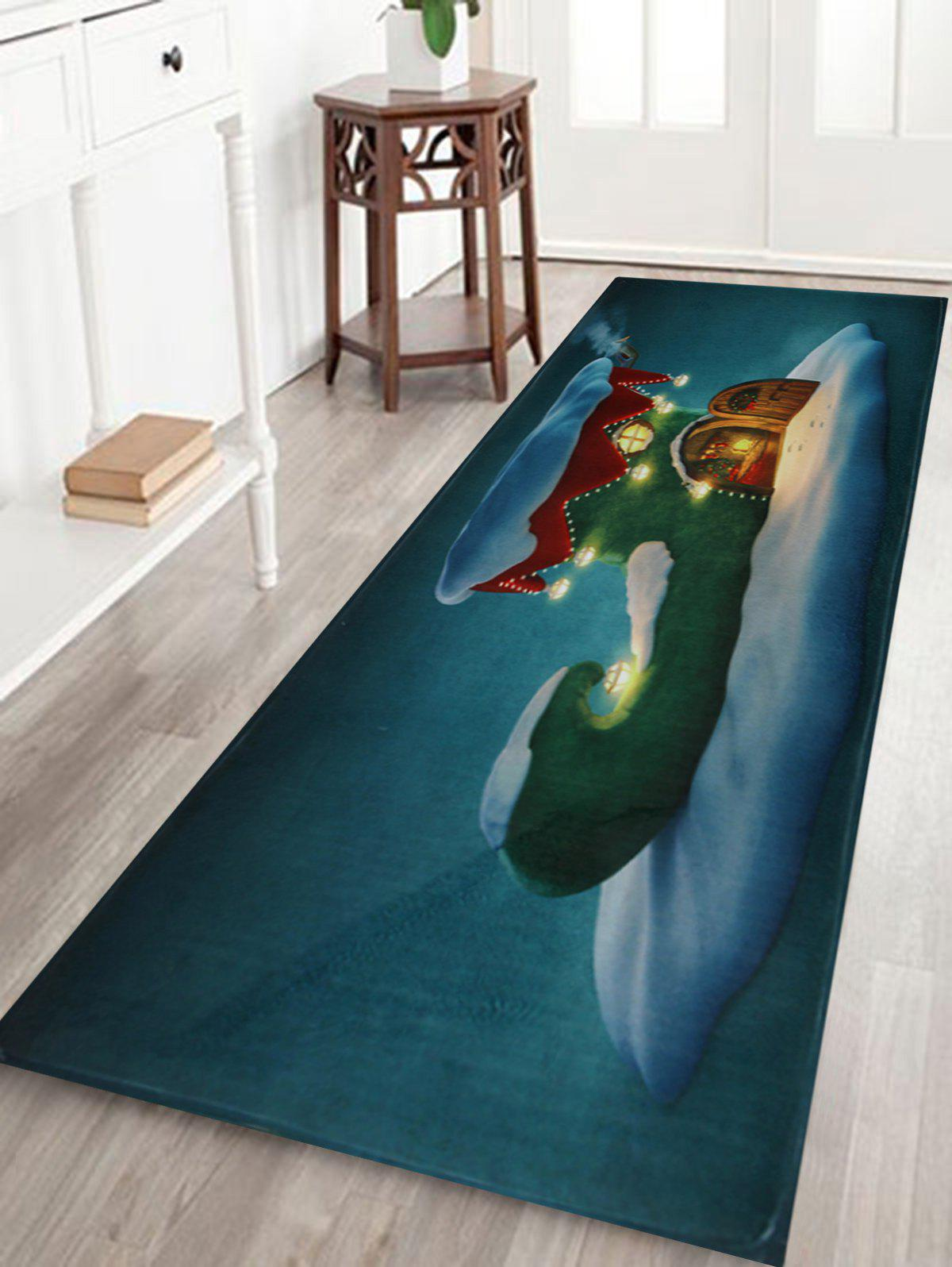 Shops Christmas Boot House Printed Nonslip Bath Rug
